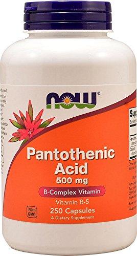 NOW Foods - パントテン酸 500 mg。250カプセル [海外直送品]