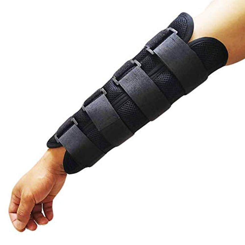 台無しにつづり不正手首と前腕の副木調整可能な前腕の装具 固定サポート捻S、脱臼、関節炎、腱炎のナイトスプリント,S