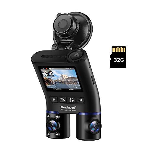 Blueskysea B2W 前後カメラ 車内+車外 WDR 2カメラ ドラレコ 赤外線 暗視機能 HD1080P Wi-Fi SONY製センサー IRカットフィルター 132°度 広視野角 駐車モード GPS機能(別売) 400GB(別売) サポート 日本語説明書付き