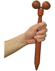 ツボ押しマッサージ棒 マッサージローラ 足ツボ棒 Lサイズ 木製 全長37cm アジアン雑貨 並行輸入品【ノーブランド品】 [並行輸入品]