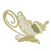 RETYLY ブックマーク ブックマークメタルバタフライ バタフライブックレディングヘルプ ギフト ゴールド