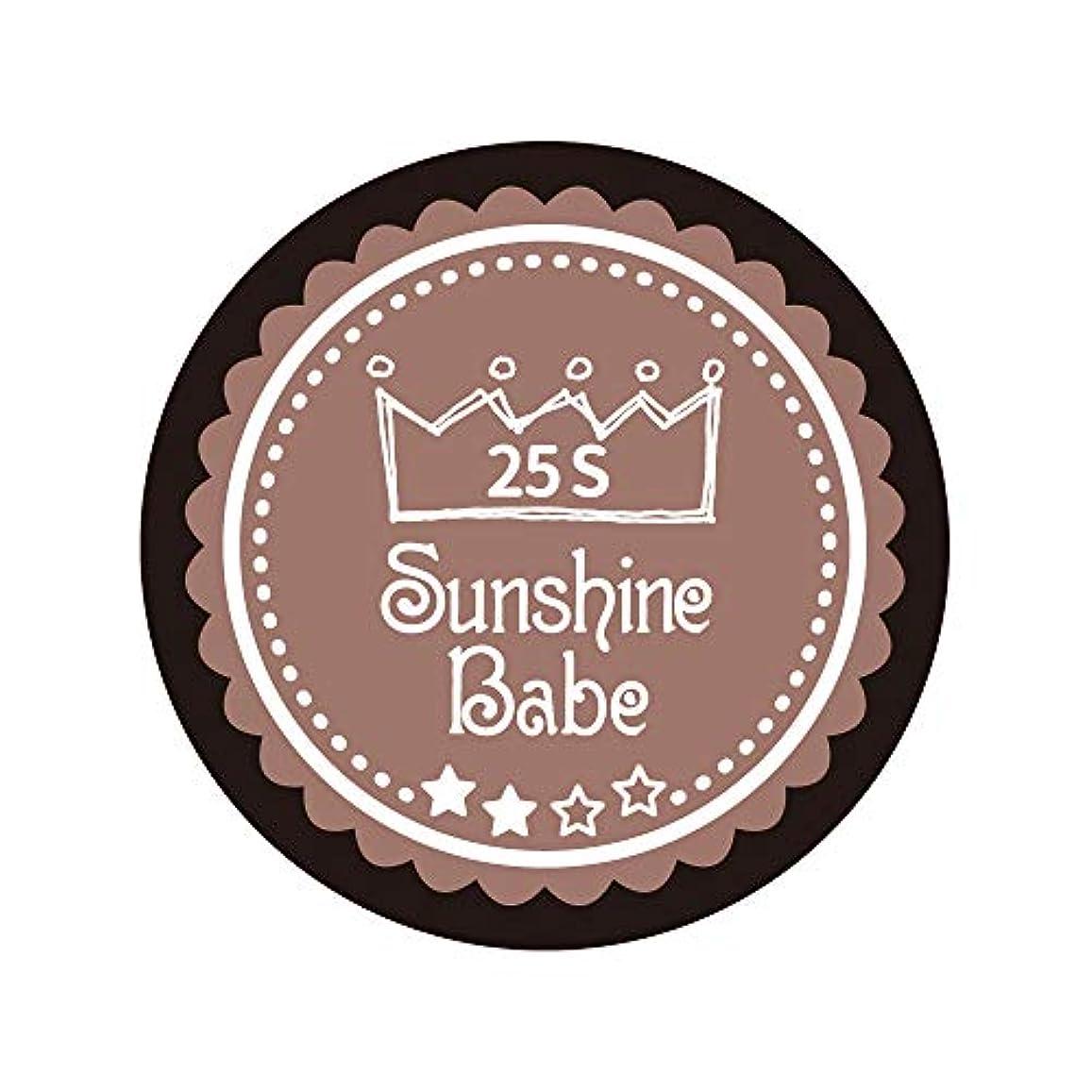 溶かす空白危険を冒しますSunshine Babe カラージェル 25S ミルキーココア 2.7g UV/LED対応