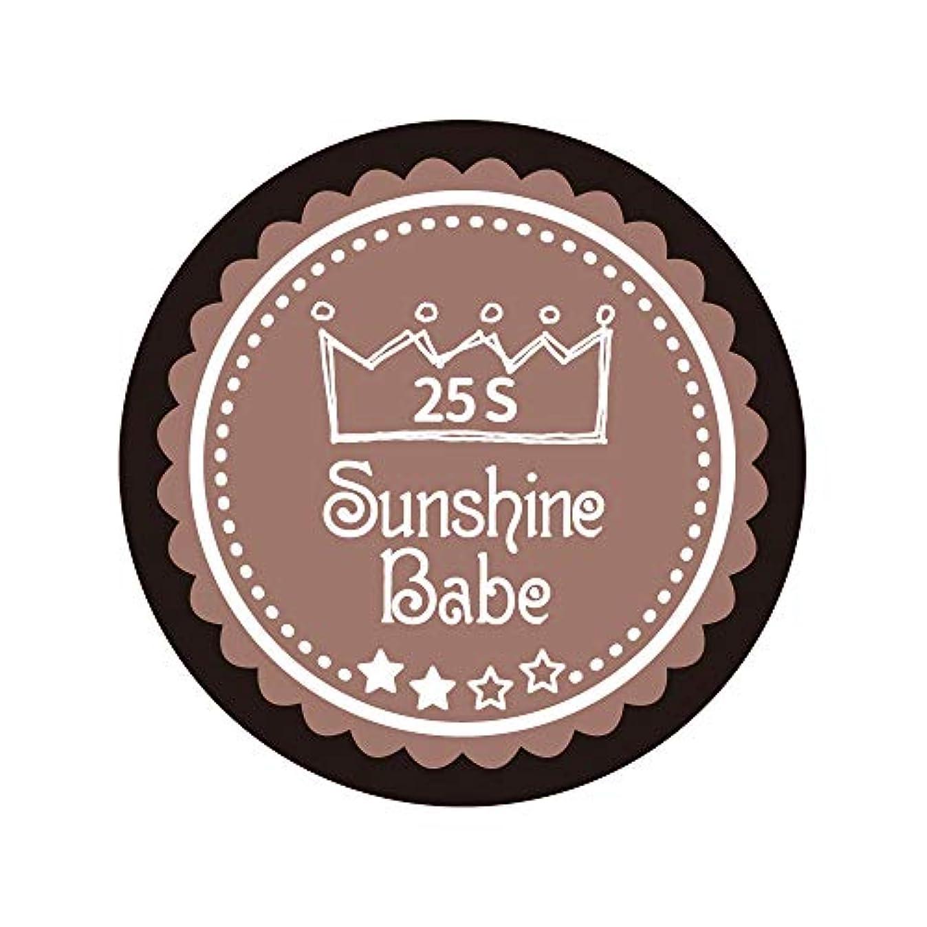 バングラデシュ抑制する整理するSunshine Babe カラージェル 25S ミルキーココア 2.7g UV/LED対応