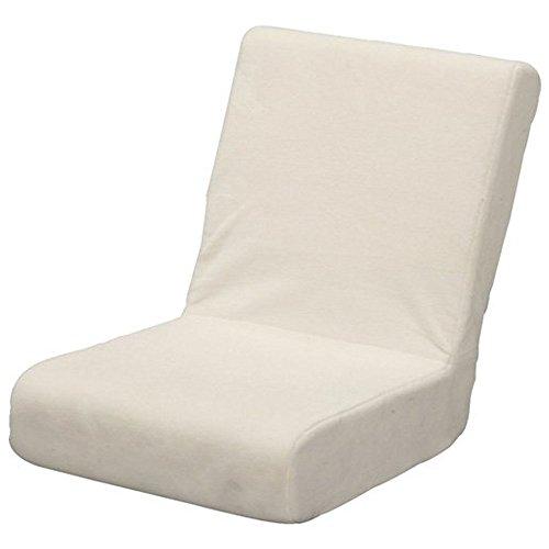 アイリスオーヤマ 座椅子 コンパクト シャギー生地 ベージュ ZC-9
