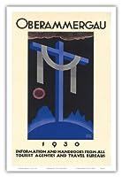 1930オーバーアマガウの受難劇 - バイエルン、ドイツ - ビンテージな宗教的なアート によって作成された リチャード・クライン c. 1930 - アートポスター - 31cm x 46cm