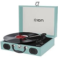 ION Audio スピーカー内蔵 スーツケース型レコードプレーヤー Vinyl Transport ブルー
