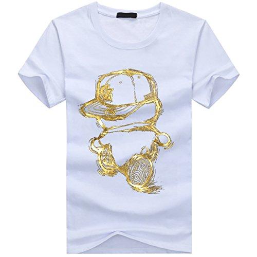 CHROME CRANE(クロム クレイン) メンズ 半袖 カジュアル キャラ Tシャツ キャラクター プリント カットソー TSP012