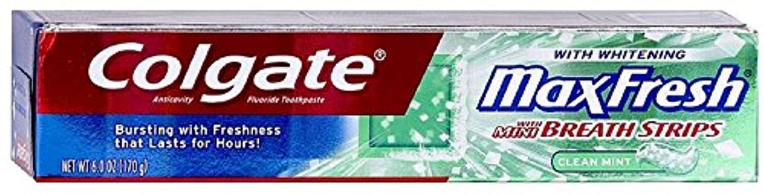 欲しいです金曜日お祝いColgate ホワイトニングブレスストリップクリーンミントハミガキ6.0オンスでMaxfresh(2パック)