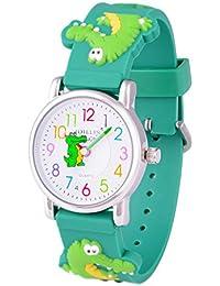 WOLFTEETH キッズ 腕時計 子供時計 男の子用 防水 ワニ グリーン 303607