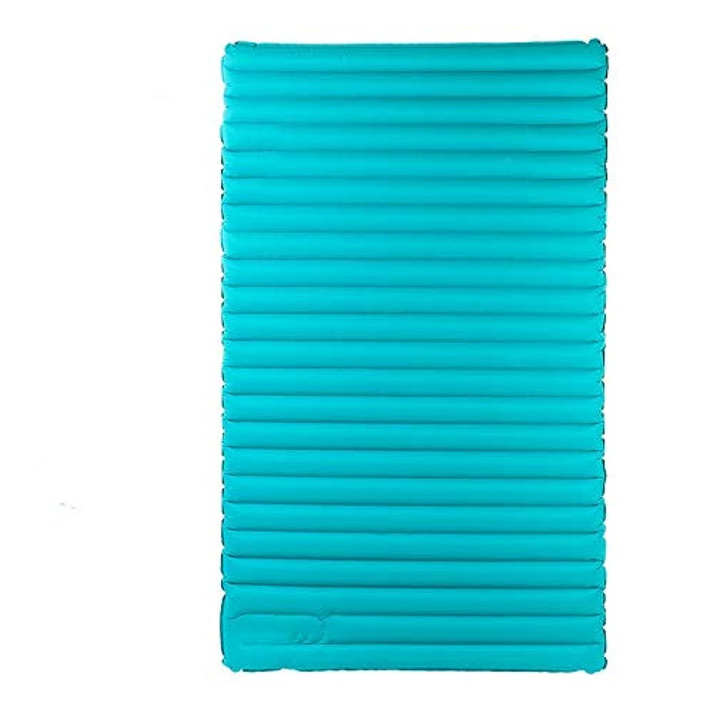 象高価なアレキサンダーグラハムベルChennong ダブルプレス超軽量インフレータブルクッション屋外テント睡眠マットマット厚いパッド入りインフレータブルベッドミディアムベッド (Color : Light blue)