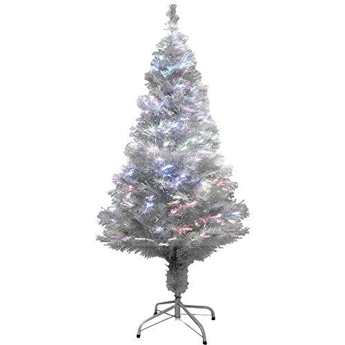 life_mart ファイバーツリー クリスマスツリー 光ファイバー イルミネーション 高輝 (150cm, ホワイト)