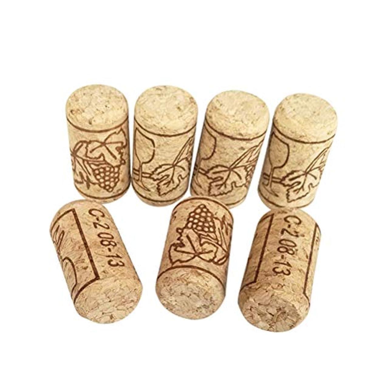 裁判所蒸悲しいことにACAMPTAR 100個ワインコルク再利用可能なクリエイティブ機能ポータブルシーリングワインコルクワインボトルカバー、ワインボトル用