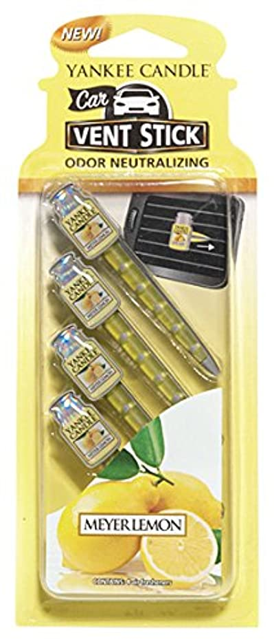 興奮する政令欠乏ヤンキーキャンドル カーフレグランススティック(4本入り) メイヤーレモン YANKEECANDLE 車のエアコン部分につけるフレグランスアイテム