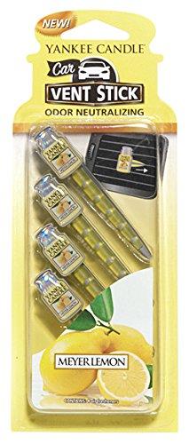 ヤンキーキャンドル カーフレグランススティック(4本入り) メイヤーレモン YANKEECANDLE 車のエアコン部分につけるフレグランスアイテム