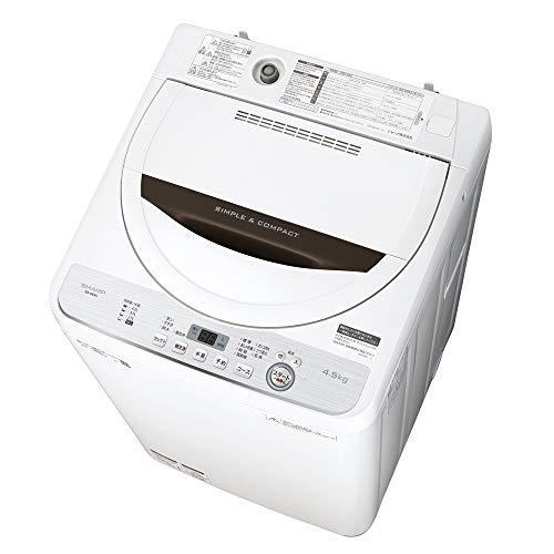 シャープ SHARP 全自動洗濯機 幅56.5cm(ボディ幅52.0cm) 4.5kg ステンレス槽 ブラウン系 ES-GE4C-T