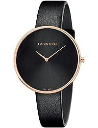 [カルバンクライン]CALVIN KLEIN 腕時計 2針 Full Moon(フルムーン) ピンクゴールド×ブラック K8Y236C1 レディース 【正規輸入品】