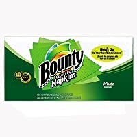 Bounty Quilted Napkins, White, 100-Count Napkins (Pack of 20)
