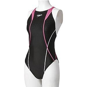 Speedo(スピード) レディース 競泳水着 ワンピース フレックスキューブ SD46B03 フラッシュピンク L