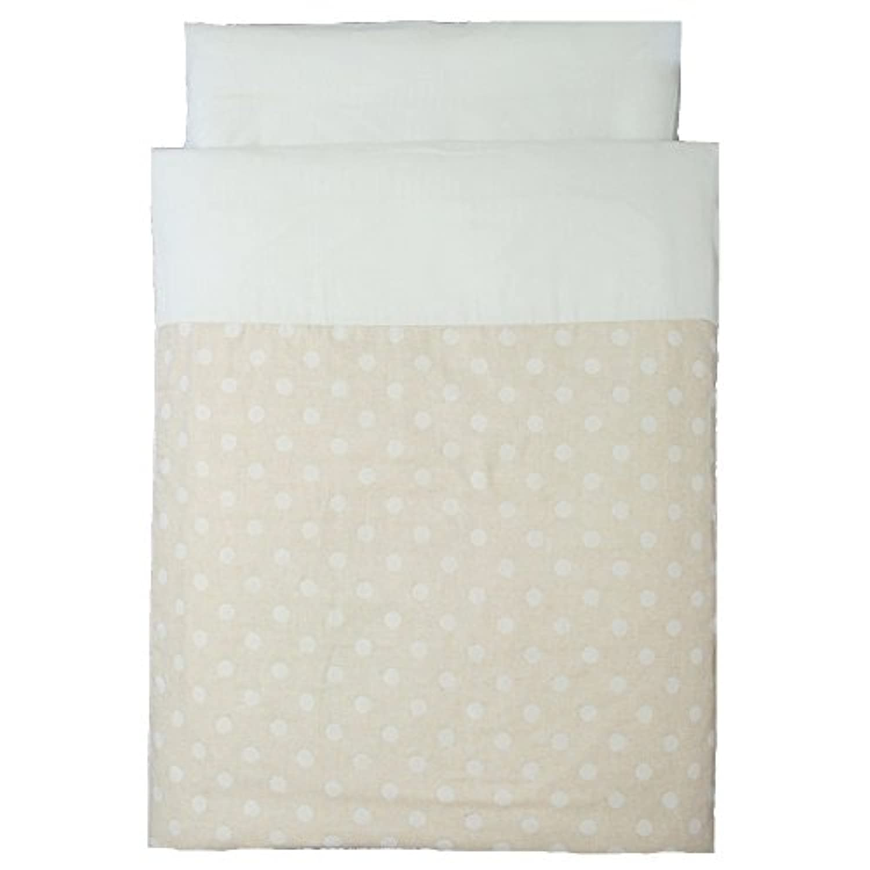 洗えるお昼寝布団5点セット《大きなドロップ》(赤ちゃん用固綿敷布団)(ブラウンバッグ)オーガニックコットンWガーゼ【日本製】