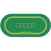 プレミアムテキサスHoldem Pokerゴムテーブルレイアウトwith Dealer Position – Comes With BONUS Carryingバッグ。