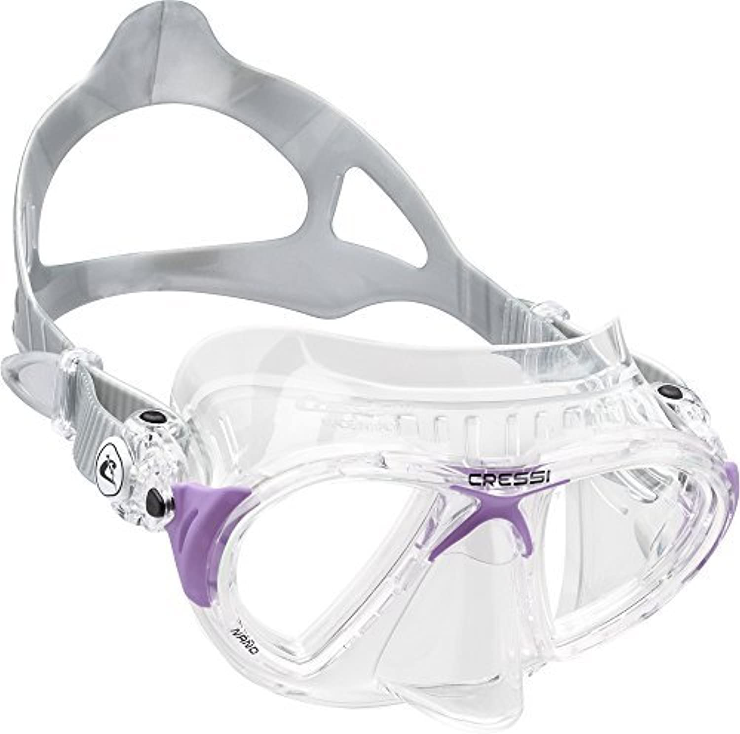 Cressi NANO Expert Adult Compact Mask for Freediving & Scuba Diving, Clear Lilac