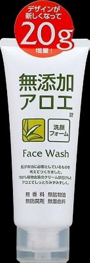 幸運なことにゴミ大きさロゼット 無添加アロエ洗顔フォーム140G  香料?鉱物油?防腐剤?着色料は無添加×48点セット (4901696534052)