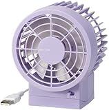 RHYTHM(リズム時計) 【省エネ】・【強風】・【静音】を実現したUSB接続ファン シルキー・ウィンド 紫色 9ZF002RH12