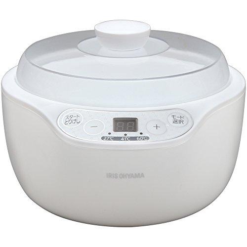 アイリスオーヤマ ヨーグルトメーカー 温度調節機能付き ホワイト PYG-103A