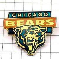 限定 レア ピンバッジ シカゴベアーズ熊アメフト/USA ピンズ フランス