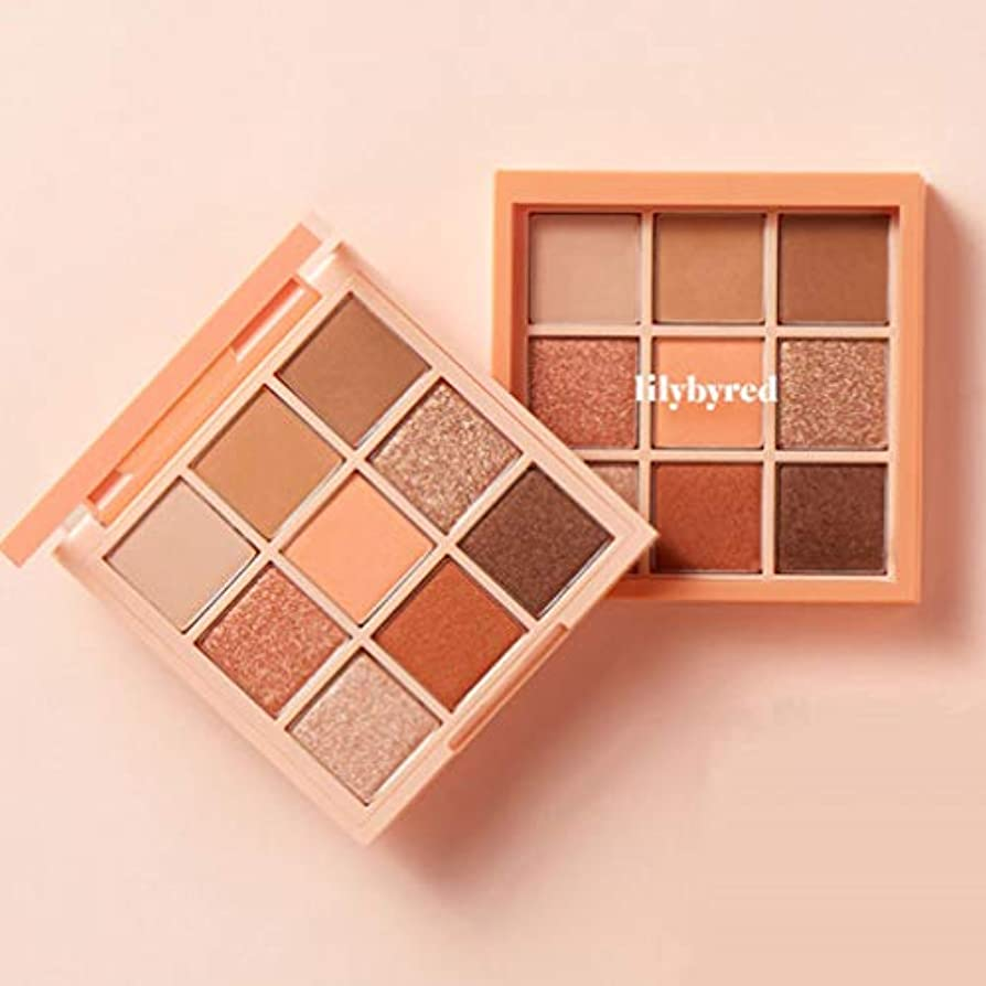 LILYBYRED Mood Cheat Kit Eyeshadow Palette #Peach Energy 告発色、高密着、告知の中独歩的な高クオリティアイシャドウパレット9color(並行輸入品)