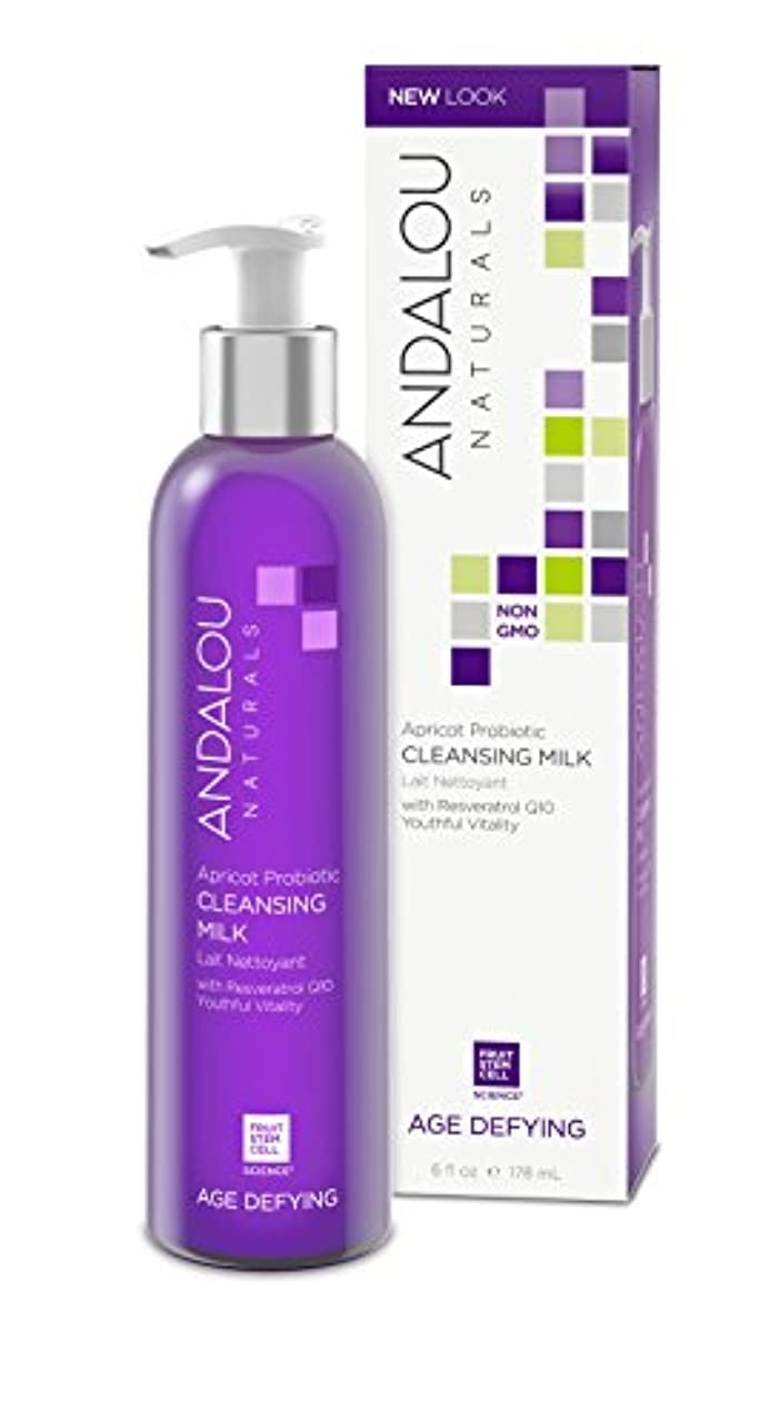 どんよりした鷹エスニックオーガニック ボタニカル 洗顔フォーム 洗顔料 ナチュラル フルーツ幹細胞 「 A クレンジングミルク 」 ANDALOU naturals アンダルー ナチュラルズ
