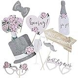 Ginger Ray 写真ブース小道具 結婚式 ブライダルシャワー&パーティー用 素朴なカントリースタイルの装飾