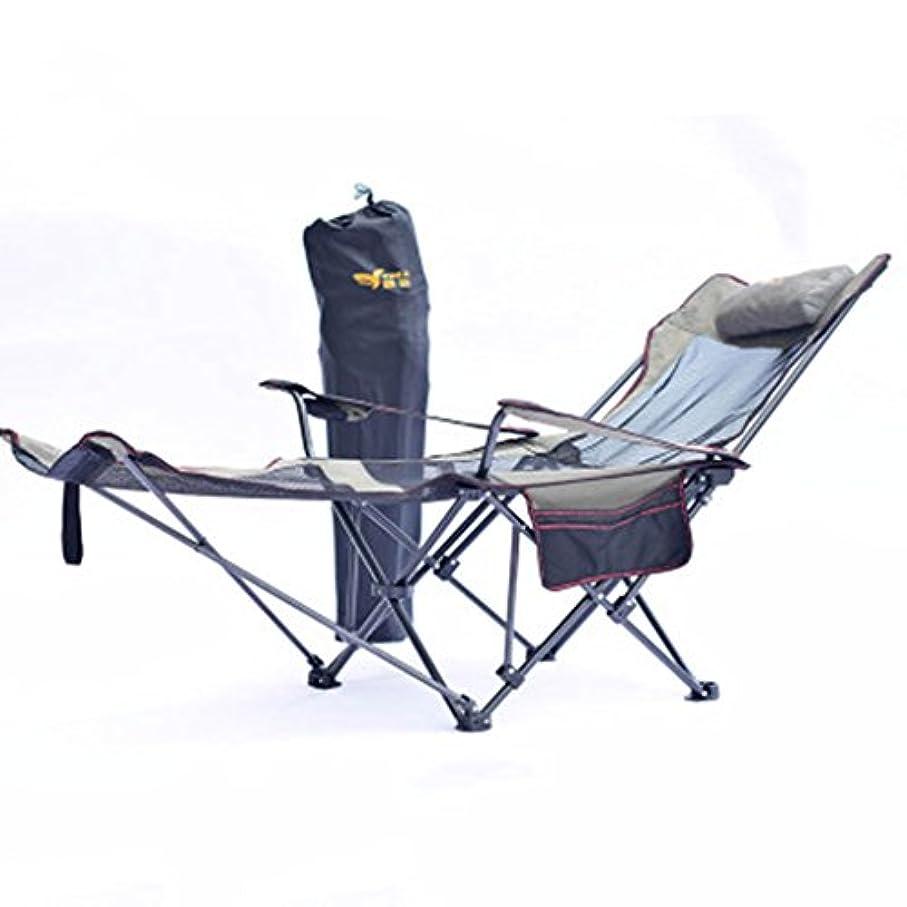滝拮抗プレビスサイト折りたたみ式ベッド グレーアウトドア折りたたみ椅子のリクライニングベッドの昼寝椅子ポータブルレジャーチェア背もたれ釣りの椅子キャンプの寝台リクライニング168 * 62 * 58センチメートル
