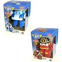 Robocar Poli + Robocar Roy (2 Transformable Robot toys) by Robocar Poli [並行輸入品]