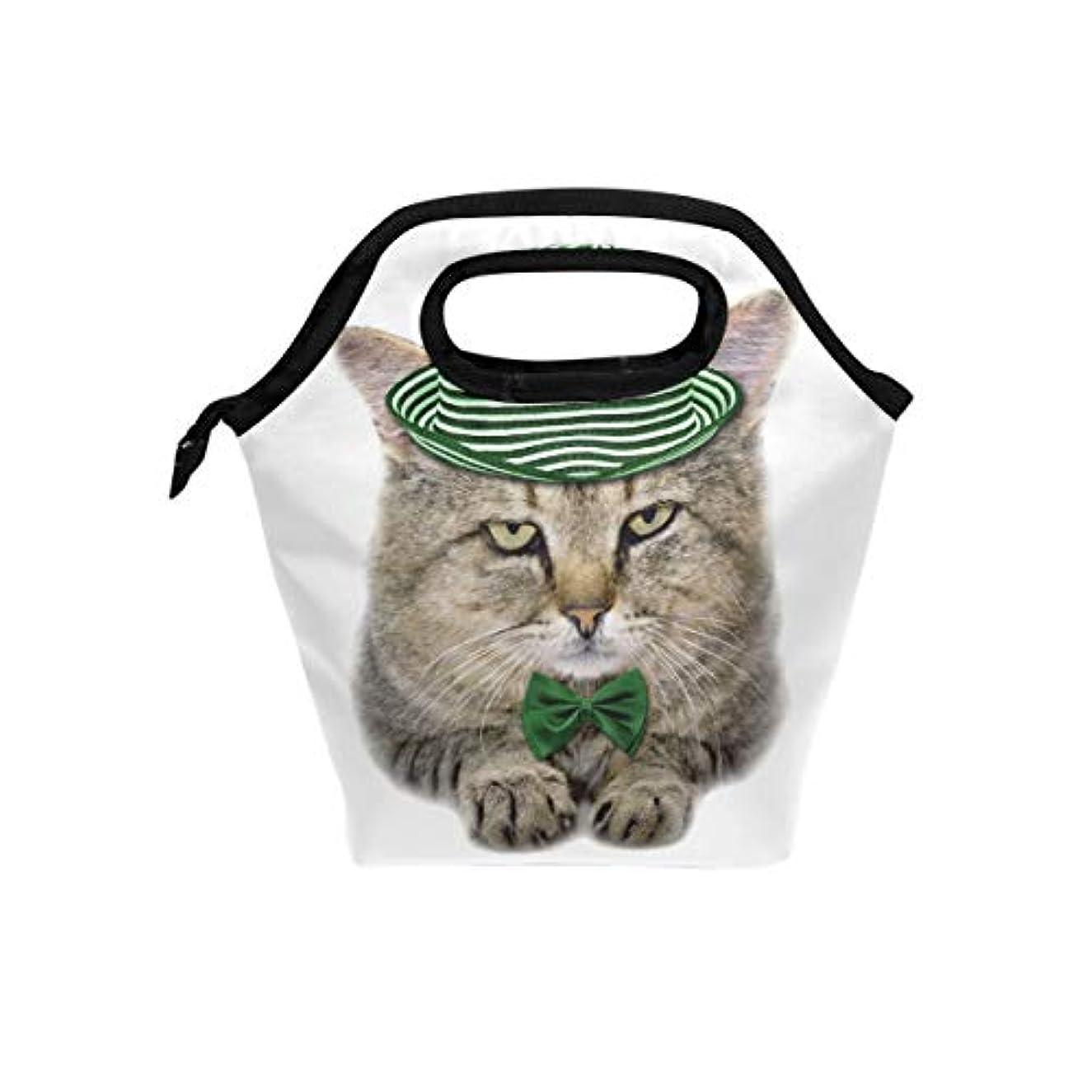 巡礼者ナンセンス意欲ランチバッグ 弁当バッグ お弁当 お弁当箱 聖パトリックデー 猫柄 可愛い 保冷保温 保温弁当 大容量 手提げ 通勤 通学