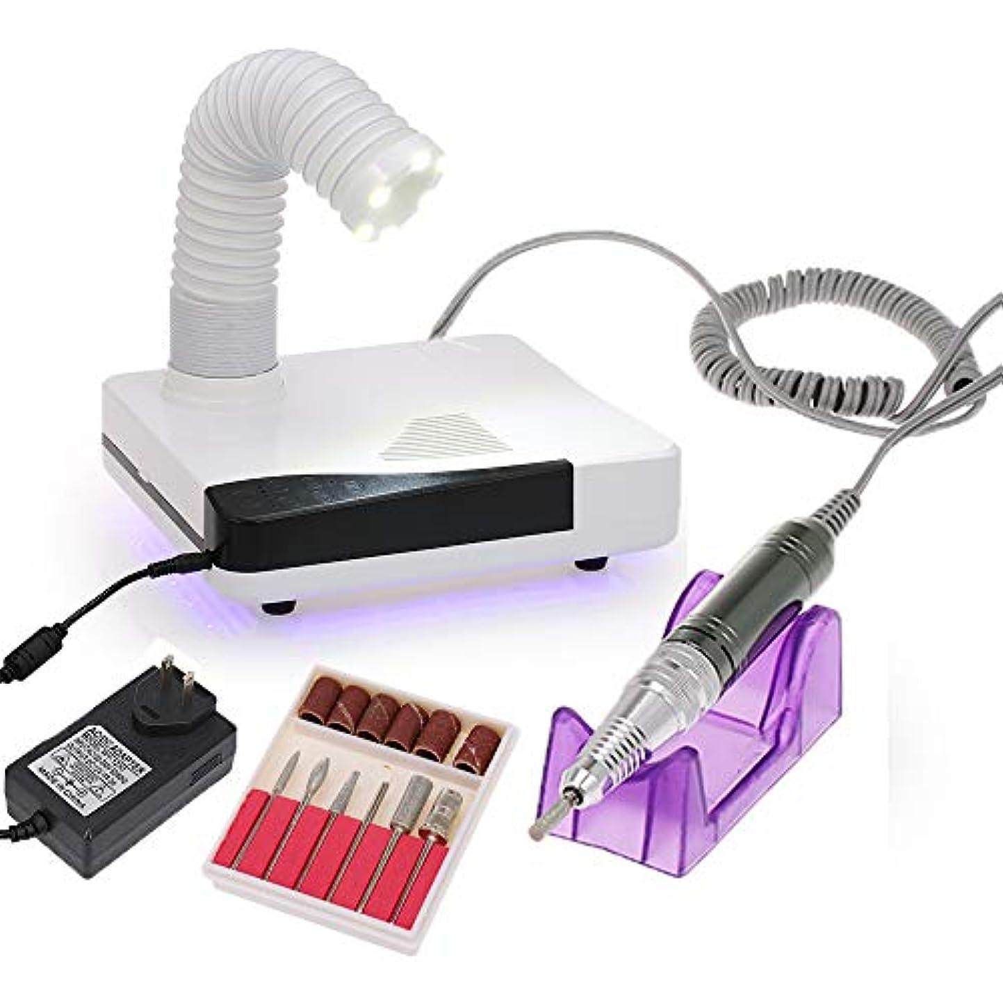 特許長方形インストラクターDecdeal 4in1 ネイル集塵 & 電気ネイルドリル機 セット ネイル集塵機 ネイルツールキット ジェルネイル 60W