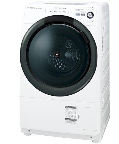 シャープ 洗濯乾燥機  ドラム式 左開き 7kg ホワイト E...