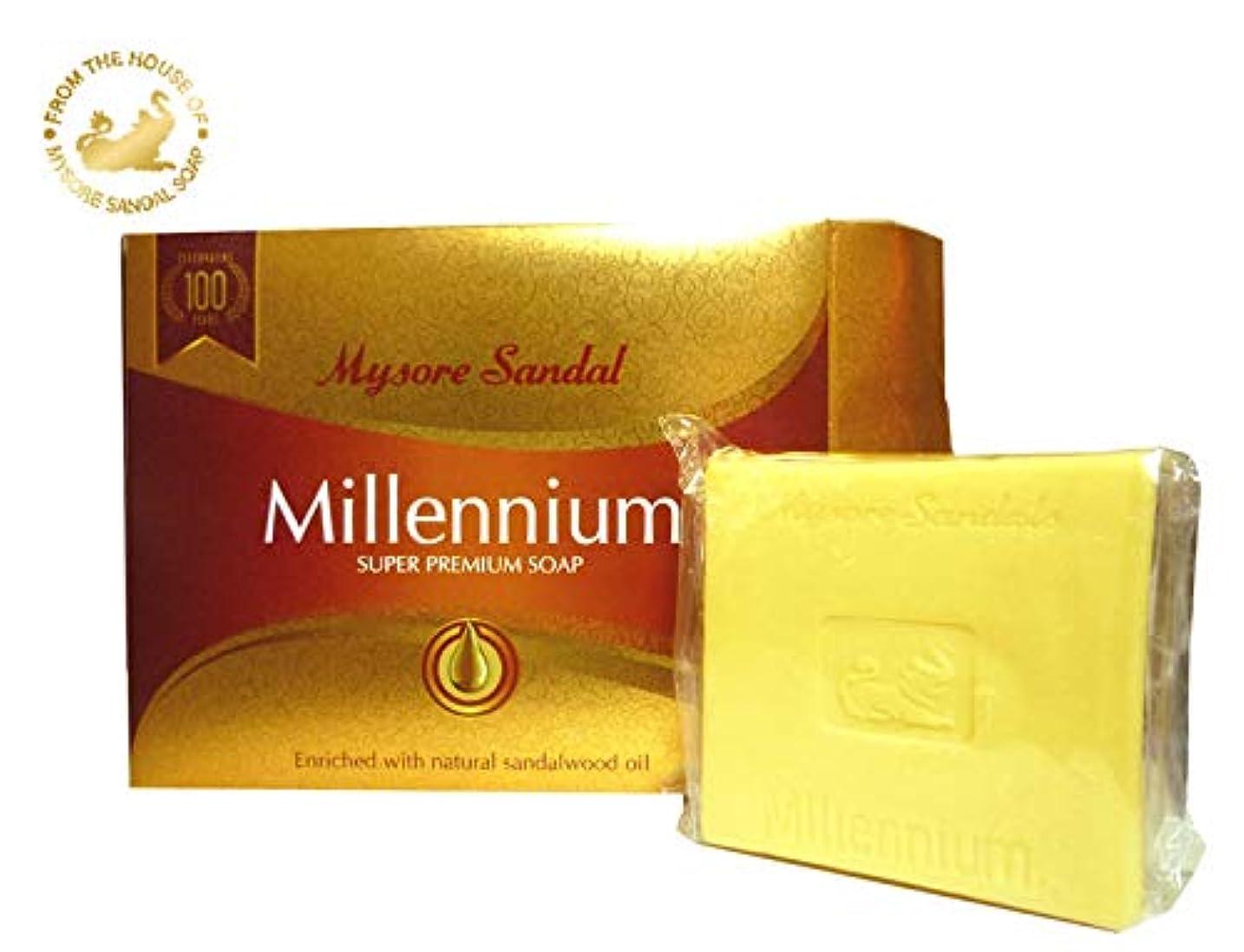 インセンティブ抽象捨てるマイソール サンダル ミレニアム スーパー プレミアムソープ 150g mysore Super Premium Soap