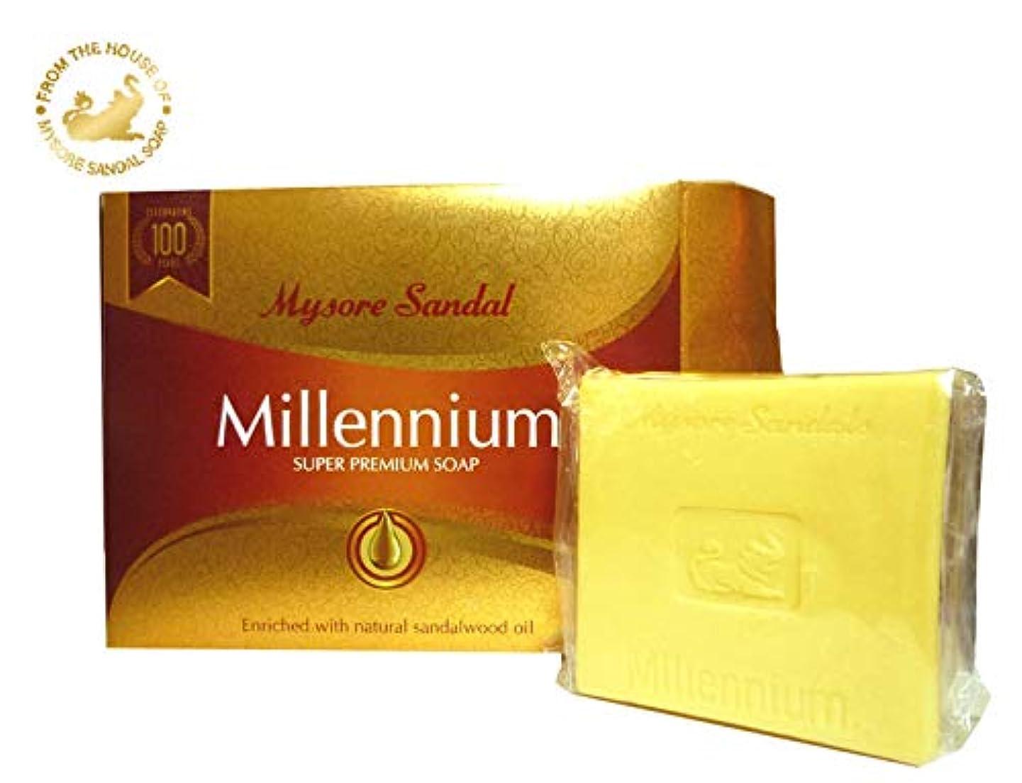 行動文献哀マイソール サンダル ミレニアム スーパー プレミアムソープ 150g mysore Super Premium Soap
