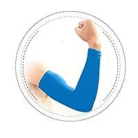1ペアアームスリーブ–Tattooカバーアウトドア運転アンチSun UV保護オートバイバイクサイクリングArmwarmer Suitable forメンズレディース ブルー