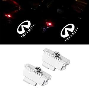 Uniquel カーテシライト ドアウェルカムライト ドアカーテシランプ レーザーロゴライト LEDロゴ投影 ゴーストシャドウ Y50 フーガ Y51 シーマ J50系 2個セット 車用 カーテシ 純正交換タイプ For infiniti