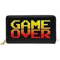 AOMOKI 財布 長財布 本革 大容量 ラウンドファスナー 通勤 通学 ゲーム オーバー