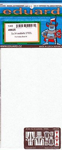 エデュアルド 1/48 スホーイSu-34 シートベルト ステンレス製 ホビーボス用 プラモデル用パーツ EDU49825