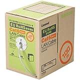 ELECOM LANケーブル CAT6 RoHS指令準拠 100m(リール巻)ライトグレー  LD-CT6 LG100 RS