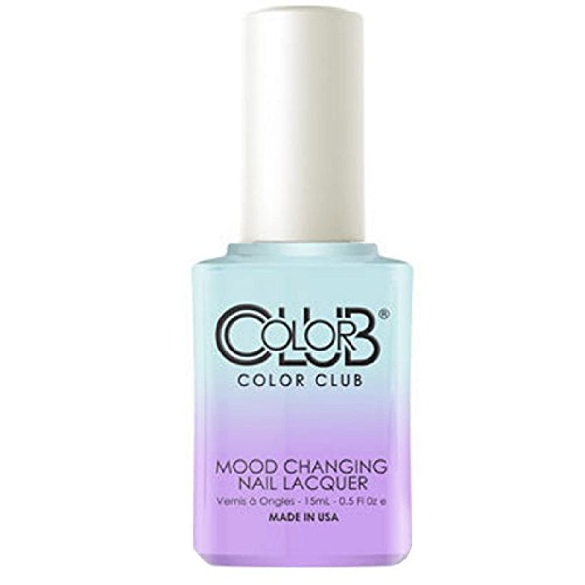 宿題富豪単独でColor Club Mood Changing Nail Lacquer - Blue Skies Ahead - 15 mL / 0.5 fl oz