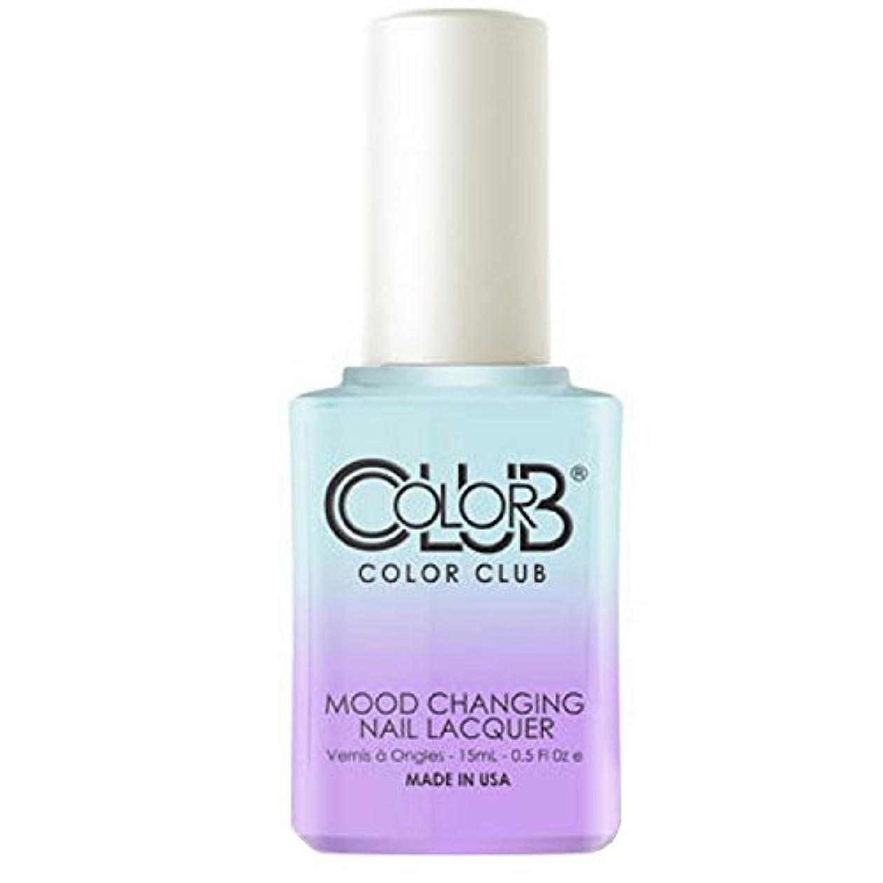 墓神経衰弱音楽Color Club Mood Changing Nail Lacquer - Blue Skies Ahead - 15 mL / 0.5 fl oz