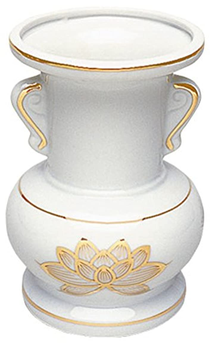 カーフ人気の複製するマルエス 御仏具 白上金ハス大玉仏花 4.5寸 ホワイト