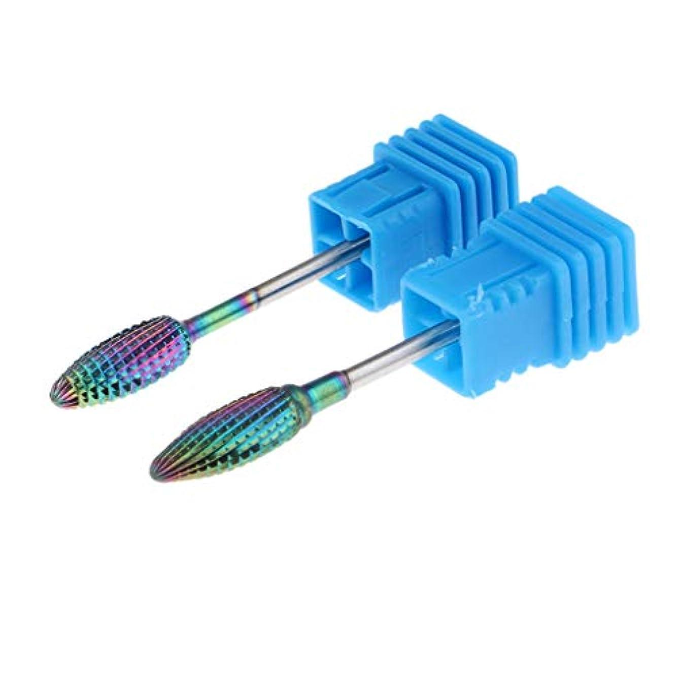 誘惑する略奪憂鬱な2本セット ビットヘッド ネイルビッドセット 研削ネイル ネイルマシーン用 ネイルドリル 全4サイズ - 04