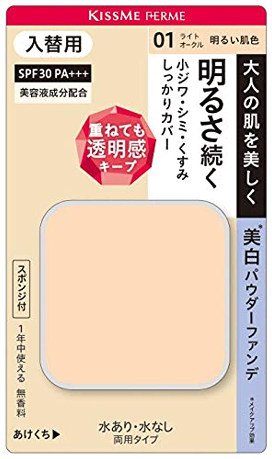 マオリ緑遊び場キスミーフェルム カバーして明るい肌 パウダーファンデ(入替用)01