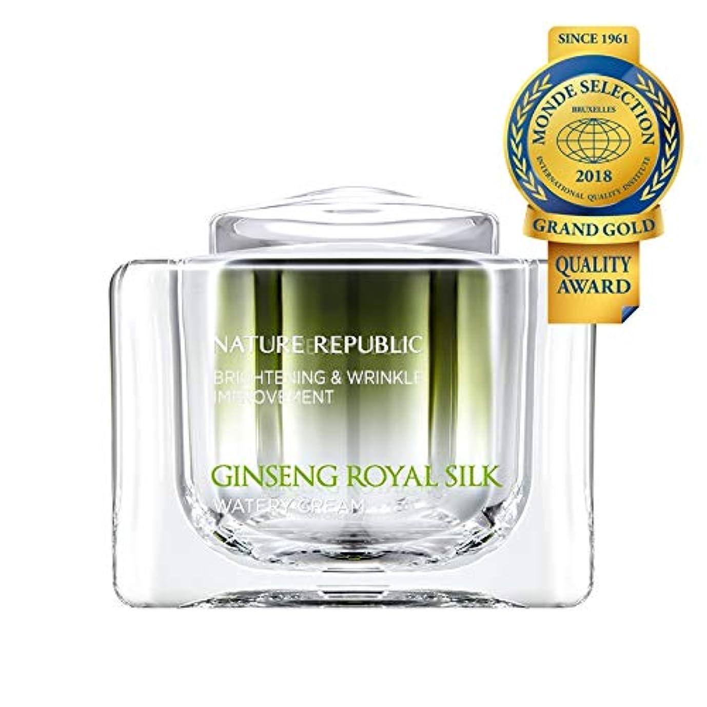 罪悪感服を片付ける企業ネイチャーリパブリック(Nature Republic)ジンセンロイヤルシルクウォーターリークリーム 60g / Ginseng Royal Silk Watery Cream 60g :: 韓国コスメ [並行輸入品]